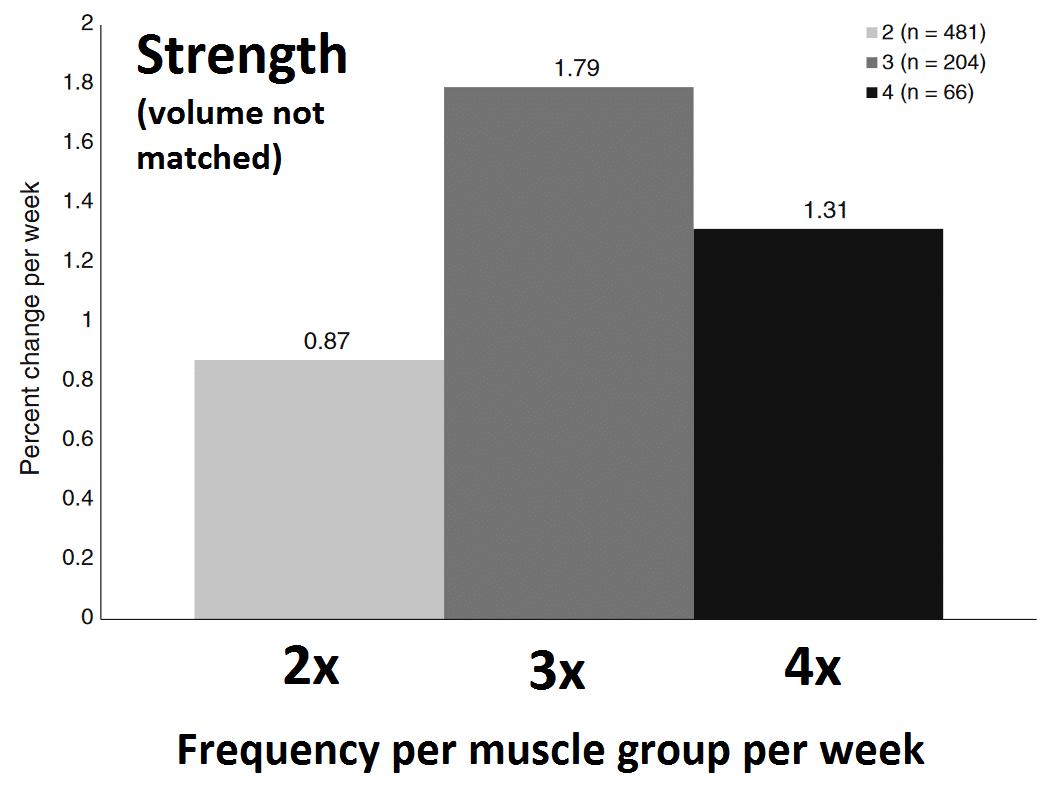 Frekvenca, volumen in trening za pridobivanje mišične mase