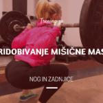 Trening za pridobivanje mišične mase nog in zadnjice