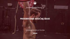 Trening za pridobivanje mišične mase zgornjega dela telesa