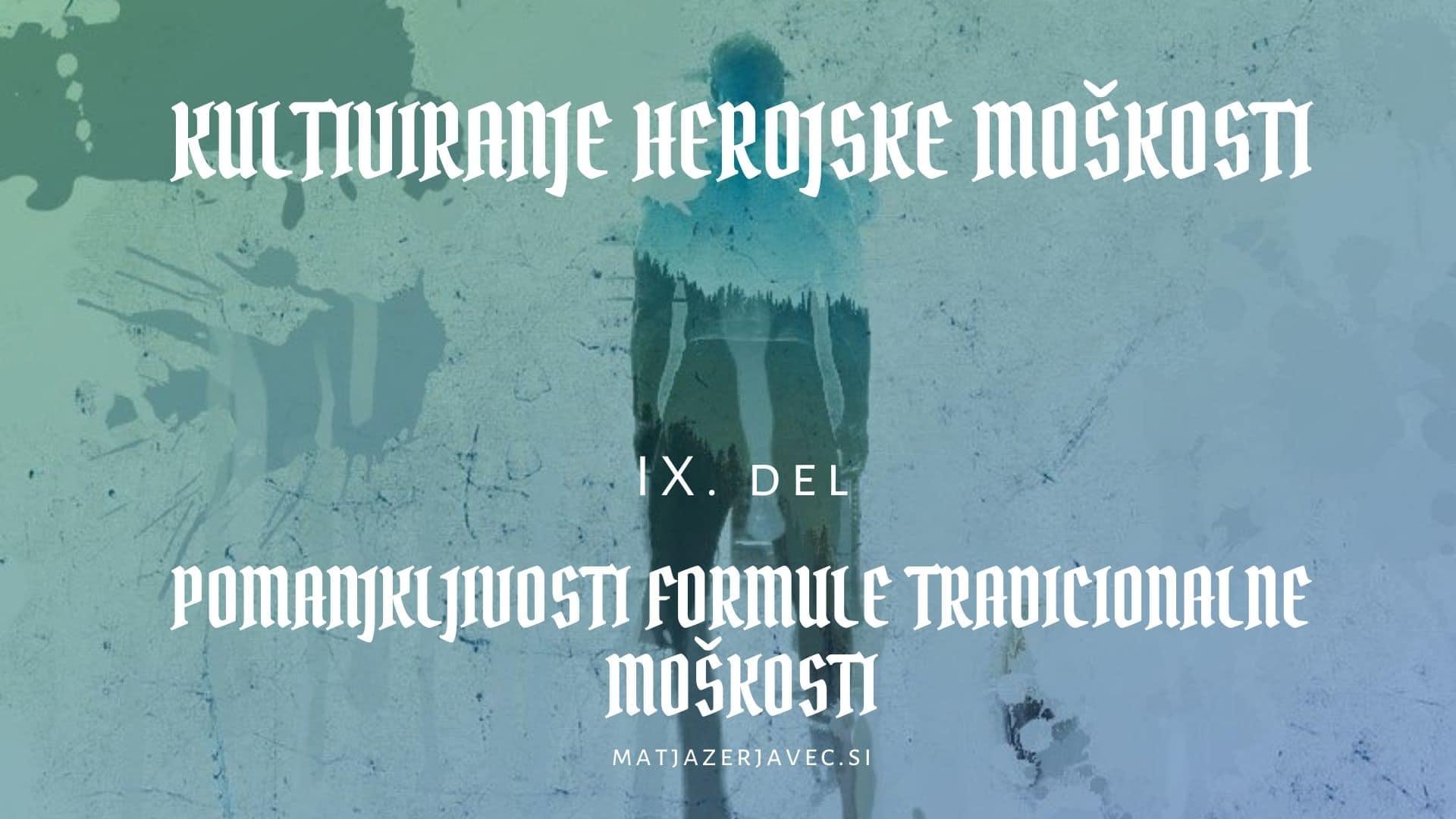 Read more about the article Pomanjkljivosti formule tradicionalne moškosti